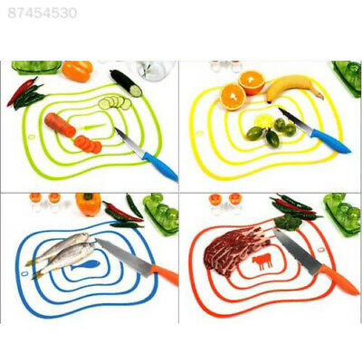 C5C6 Flexible Ultra-thin Plastic Vegetable Chopping Board Frosted Antibacteria