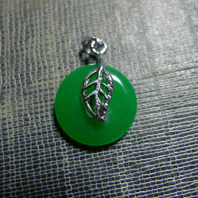 Chinese jade translucent green peace buckle pendant
