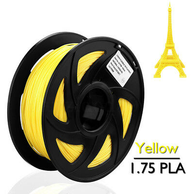 Yellow PLA Filament for 3D Printer 1.75mm 1kg Spool Drum Roll Stretchy Flowable