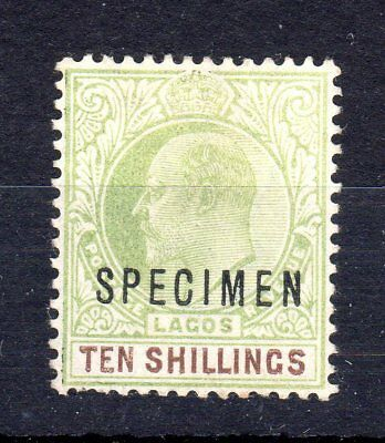Lagos 1904 10/-. specimen sg53s unused. No gum.