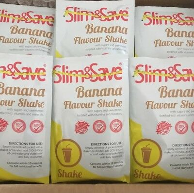 25 BANANA Slim And Save Diet Shakes; Exp: March 2020