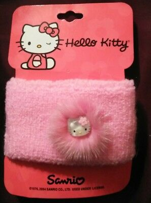 Hello Kitty Wristband for Girls; Pink with Pink Trim; NWT 30th Anniversary CUTE