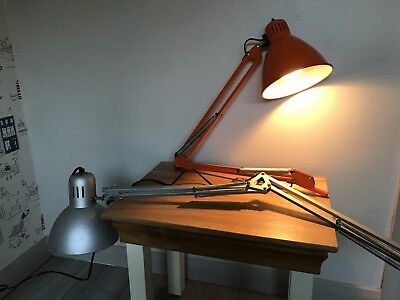 Pair of Angle Lamp Lights - One Working