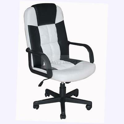 Executive Home Office Desk Chair Swivel Reclining PU Leather Computer Chairs New