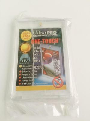 1 ULTRA-PRO ONE-TOUCH Magnetic 75PT UV Protected Card Holders as picture in