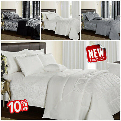 New Jacquard 3 Piece Quilted Bedspread Comforter Bedding Sets With Pillow shams