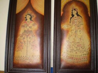 Vintage Indian Style Printed Leather Pictures