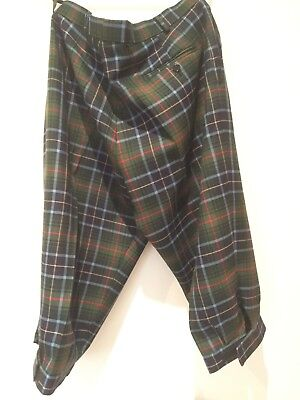 "Kinloch Anderson Tartan wool men's Plus4s Waist 40"". Made in Scotland"