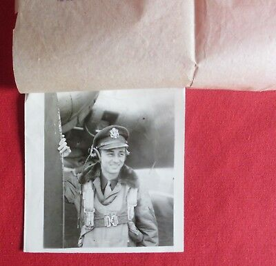 WWII AAF 447th Bomb Group PILOT PHOTO w/ AIR MEDAL PRESS RELEASE 711th Squadron