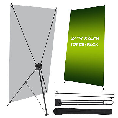 "Wholesale 10Pcs X Banner Stand 24"" x 63"" w/ Free Bag Trade Show Display Tripod"