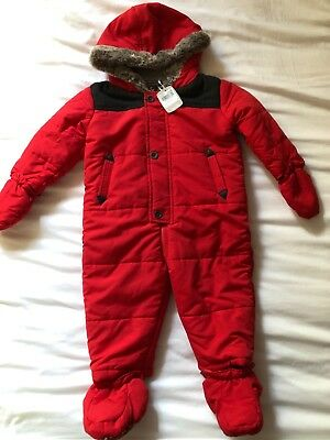 Boys Red Snowsuit Size 12-18 Months