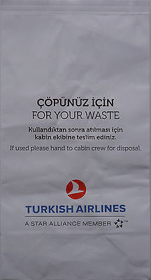 Flugzeug-Spuckbeutel / Abfalltüte Cöpünüz Için For your Waste TURKISH AIRLINES