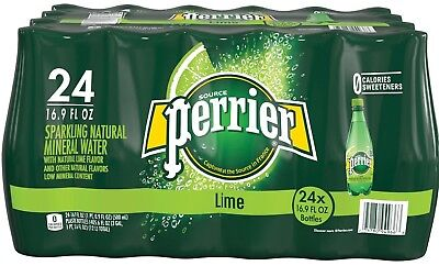 Perrier Sparkling Natural Mineral Water Citron Lemon-Lime 16.9 oz. bottles 24ct.