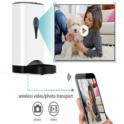 Smart WiFi Auto Pet Feeder works with Android/Apple with Camera Auto Feed 4.5L