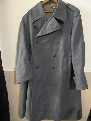 Vintage Ww2 Swiss Military Overcoat With Cross Buttons Medium Size