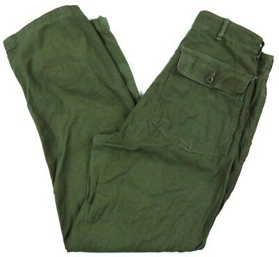 VINTAGE 60s military OG-107 type 1 pants VIETNAM utility trousers mens 30x32*