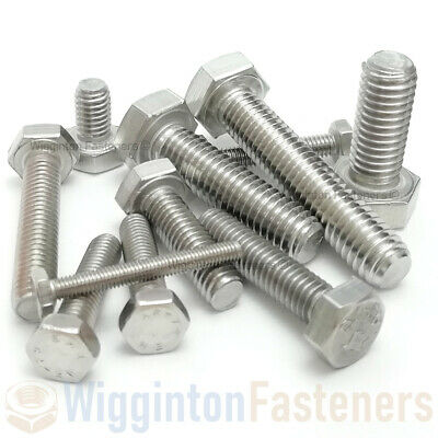 "1/4"" UNF Set Screws / Fully Threaded Hex Bolts A2 STAINLESS STEEL"