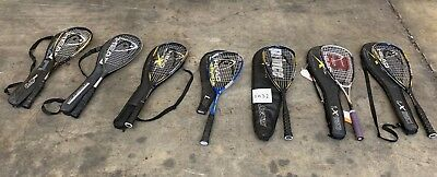 Selection of 7 squash rackets, Head, Prince, Wilson etc    1032