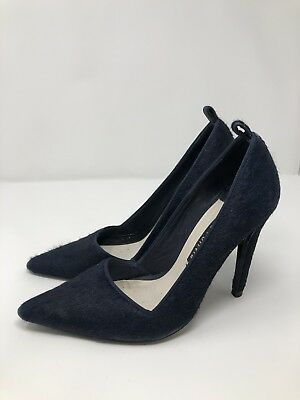 ceaac092e901 Alice + Olivia Womens Pumps Heels Size 38 US 7.5 Navy Blue Pointed Toe  Dorsay