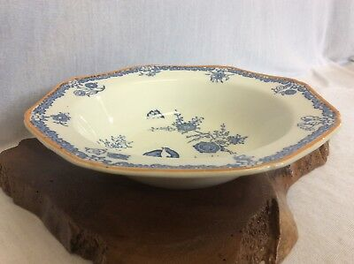 Vintage WOOD & SONS. OLD BOW. Coupe Cereal Bowl. Woods Ware. England. Cobalt.