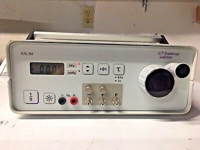 Halstrup Walcher KAL84 Light-Weight Portable Pressure Calibrator 199.0mmHg 26.55