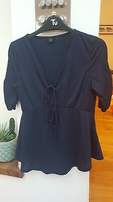 Topshop Maternity Top Size 10, Navy Blue