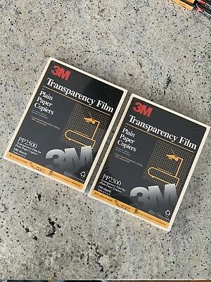 2 LOT (TWO) TRANSPARENCY FILM PLAIN PAPER COPIERS 3M 100 COUNT PP2500 One Price
