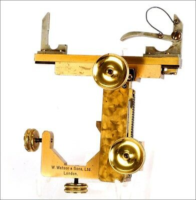 Antique Watson & Sons Mechanical Stage for Microscope. England, Circa 1900