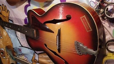 RARE vintage Orfeus Jazz-Gibson acoustic guitar,very well preserved,all original