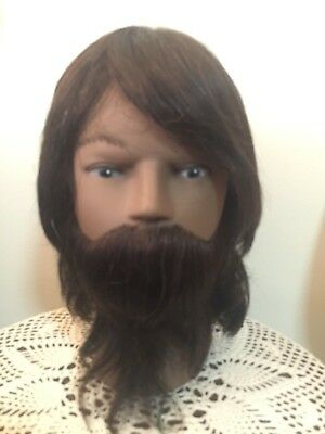 NEW * CLiC 'KYLE' COSMETOLOGY SCHOOL MANNEQUIN HEAD * SCK07 * 100% HUMAN HAIR