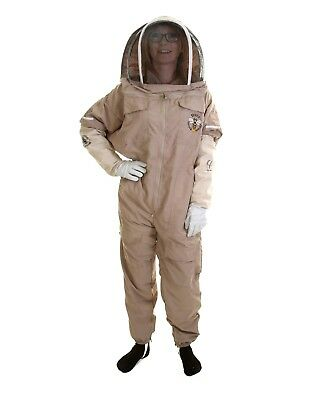 Latte Lightweight Fencing Veil Bee Keeping Suit size 6XL