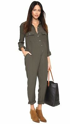 Hatch Collection Maternity The Union Jumpsuit Jumper Overall Green/Brown Size 1
