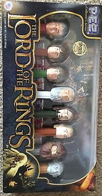 Lord of the Rings set of 8 Limited Edition Collector series pez dispenser set