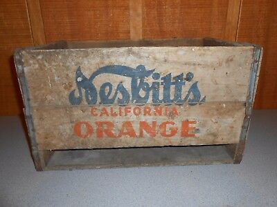 Rare Vintage Nesbitt's California Orange Soda Wooden Crate