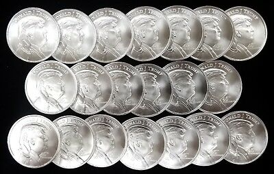 ROLL OF 20, Donald J. Trump, 45th President, 1 Troy Oz, .999 Fine Silver Rounds!
