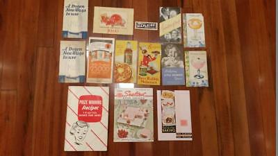 LOT OF 14 VINTAGE FOOD ADVERTISING RECIPES BOOKLETS PAMPHLETS 1920's - 1950's