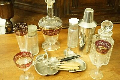 Mixed Lot of Glassware, Silverplate & Tools