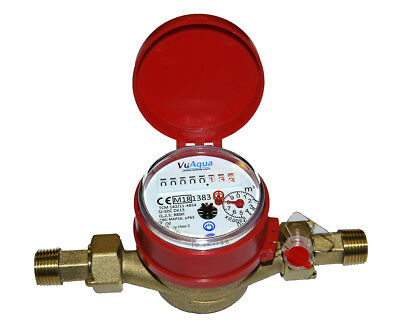 """1/2"""" DN15 Hot Water Meter -Optional Pulse Output, up to 90C"""