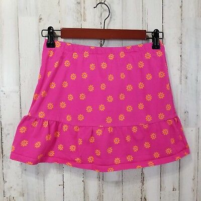 The Childrens Place Girls Skirt L 10-12 Pink Floral Built in Shorts RK1