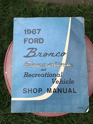 vintage 1967 Ford Bronco Econoline And Recreational Vehicle Shop Manual Book Car