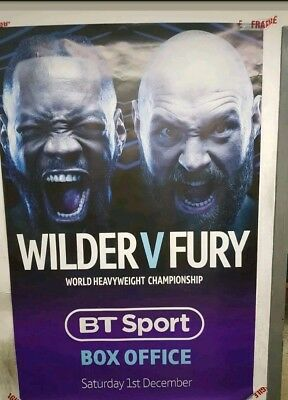 Tyson Fury vs Deontay Wilder BT Sports Official Bus Shelter Promotional Poster