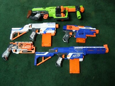 Lot of Nerf guns. N strike , Zombie. Doominator Retaliator