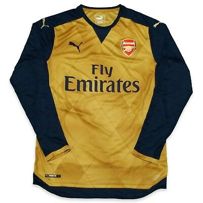 ARSENAL AWAY ALEXIS 22 Gold Futbol  Soccer Jersey Authentic YOUTH XL ... 4b01792fc