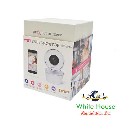 Project Nursery WiFi Video Baby Monitor HD Camera PNMWIFIAC (White)