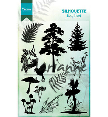 !!NEU!! Marianne Design, Silhouette Fairy Forest, Feen, Farn,  Clear Stamps, ovp