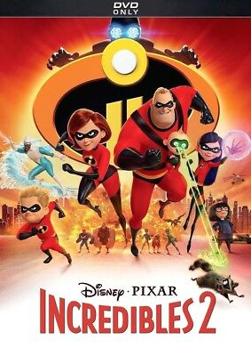 Incredibles 2 (DVD, 2018) BRAND NEW! Family, Action, Sealed! FREE SHIPPING in US