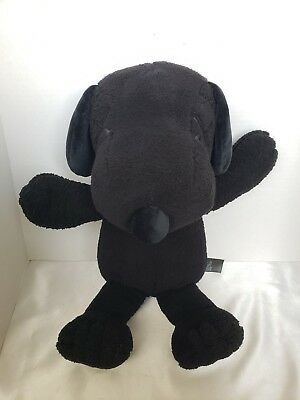 "KAWS X Peanuts Plush All Black Snoopy 21.5"" M Big Large Soft Stuffed Uniqlo"