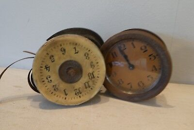 Old Clock Parts Dials Movements - Antique