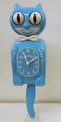 Limited Edition   Kitty-Cat Clock  In Scuba Blue Made In The Usa Free Batteries