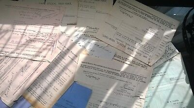 job lot of old papers,stock sheets, letters and documents